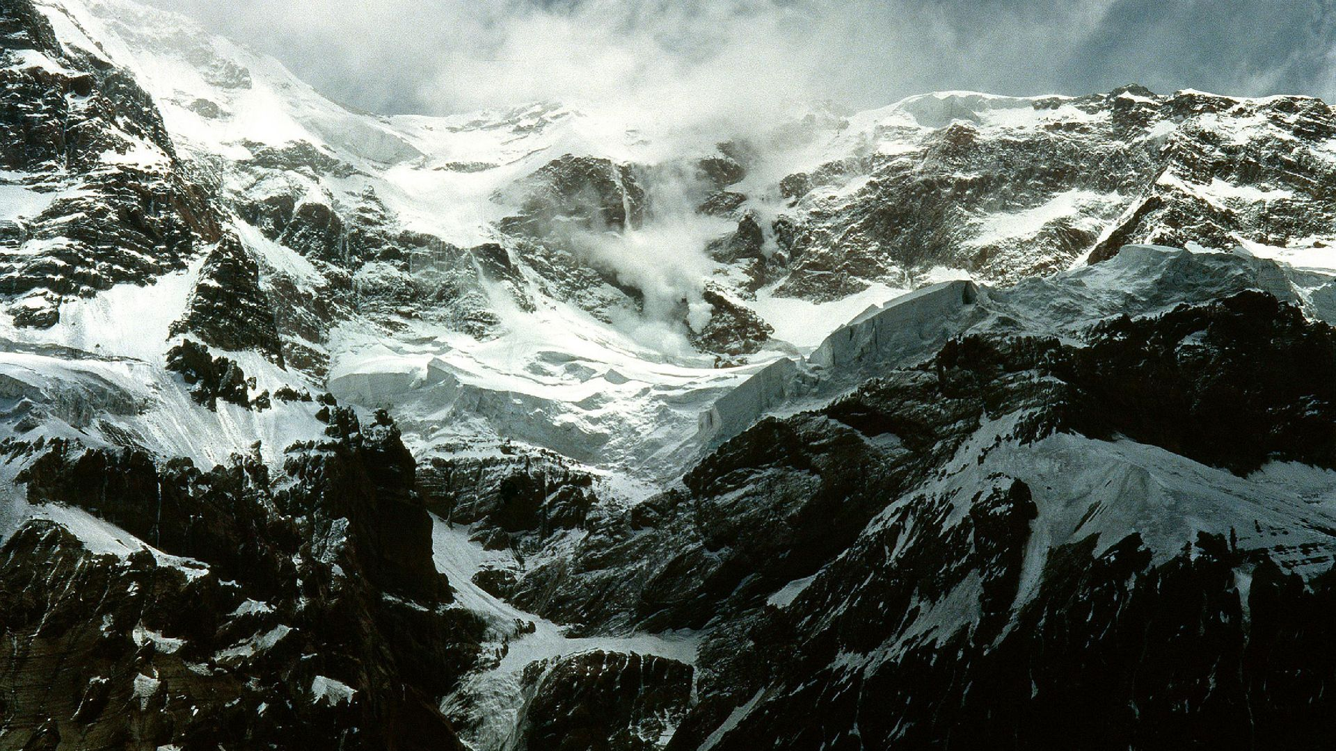 Aconcagua south face solo 1990–91