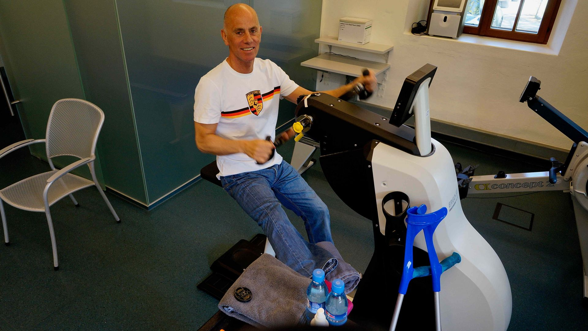 Second-hand ergometer test after the accident: +35% increase in strength!
